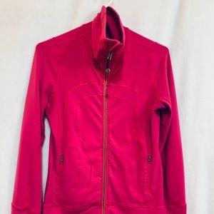 Lululemon Athletica pink running jacket.